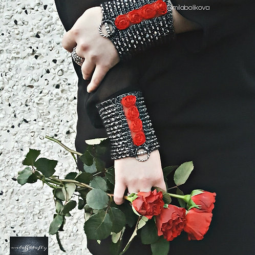 Cuffs Red Roses