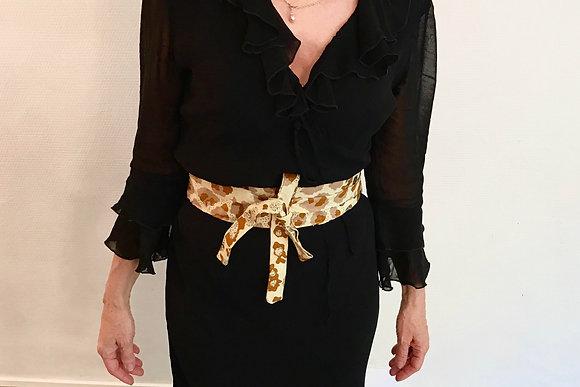 ceinture obi en tissu wax
