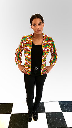 Veste ethnique en tissu africain (Wax)