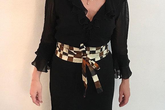 ceinture obi en tissu wax ethnique