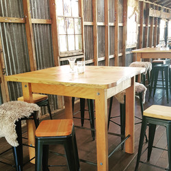 Bar leaners and stools