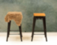 Bar Stools, One with Sheepskin.jpg