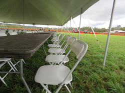 White Folding Chairs - Side View