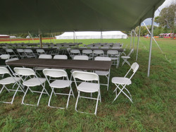 Folding Chairs with Banquet Tables