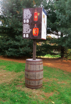 Barrel Sign Post
