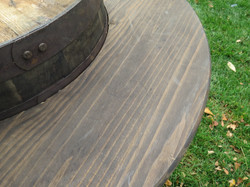 Vineyard Barrel Table - Close Up