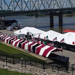 Booths at Newport Italianfest