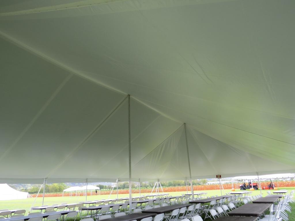 Inside Pole Tent