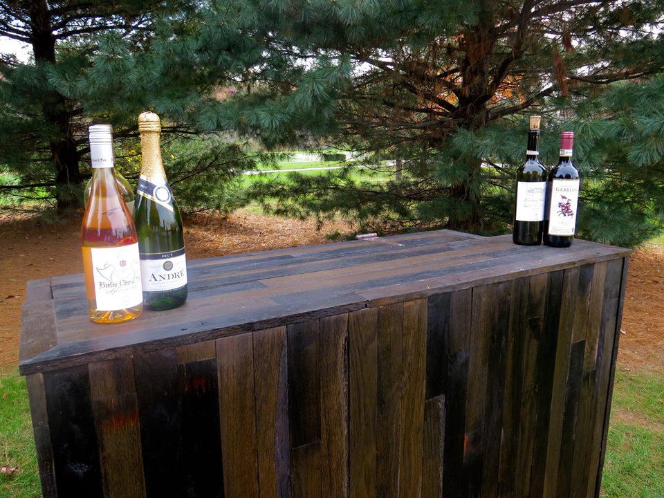 Vineyard Beverage Cart Top View