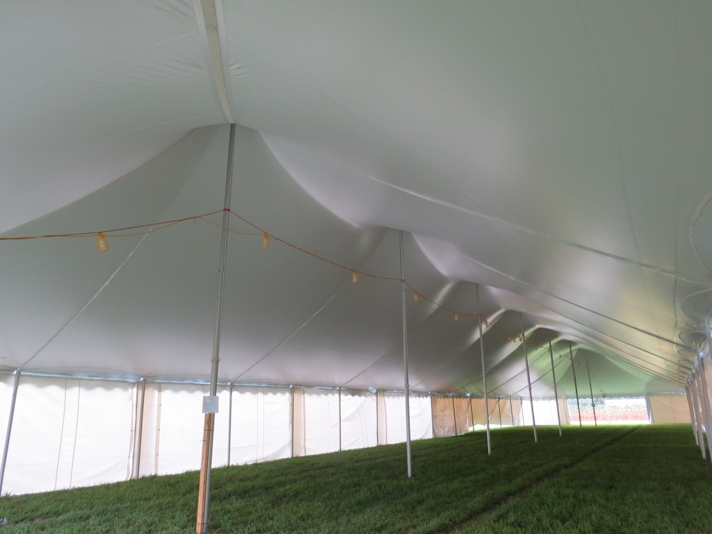 Pole Tent Roof View