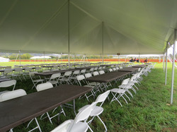 Tables & Chairs Set Up - Weber Farms