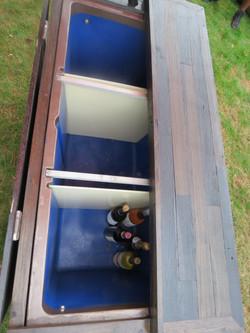 Vineyard Beverage Cart - Inside View