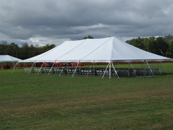Pole Tent with Chairs
