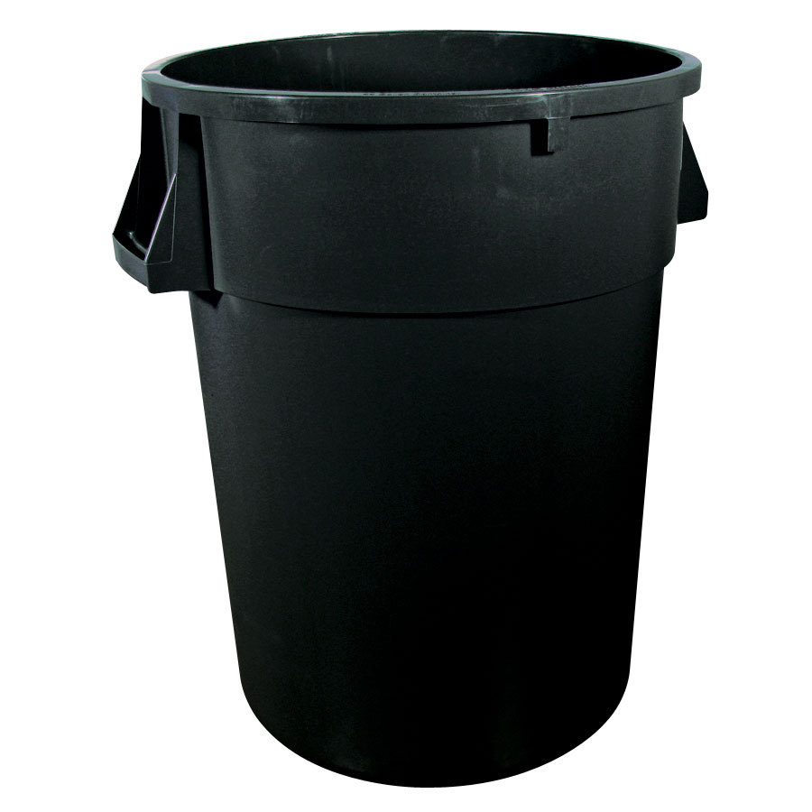 Black Trash Can