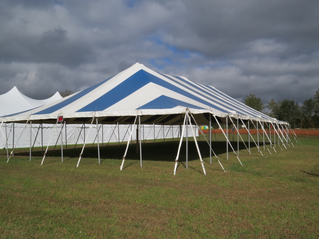 Striped Pole Tent