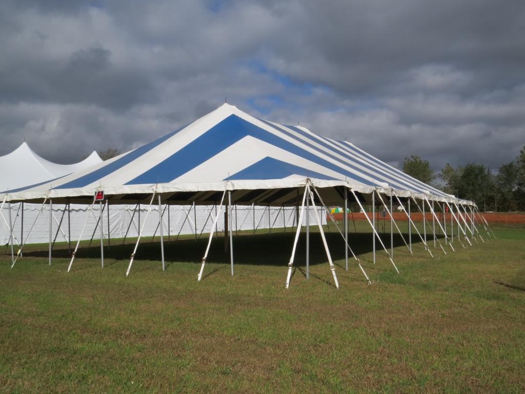 Striped Pole Tent