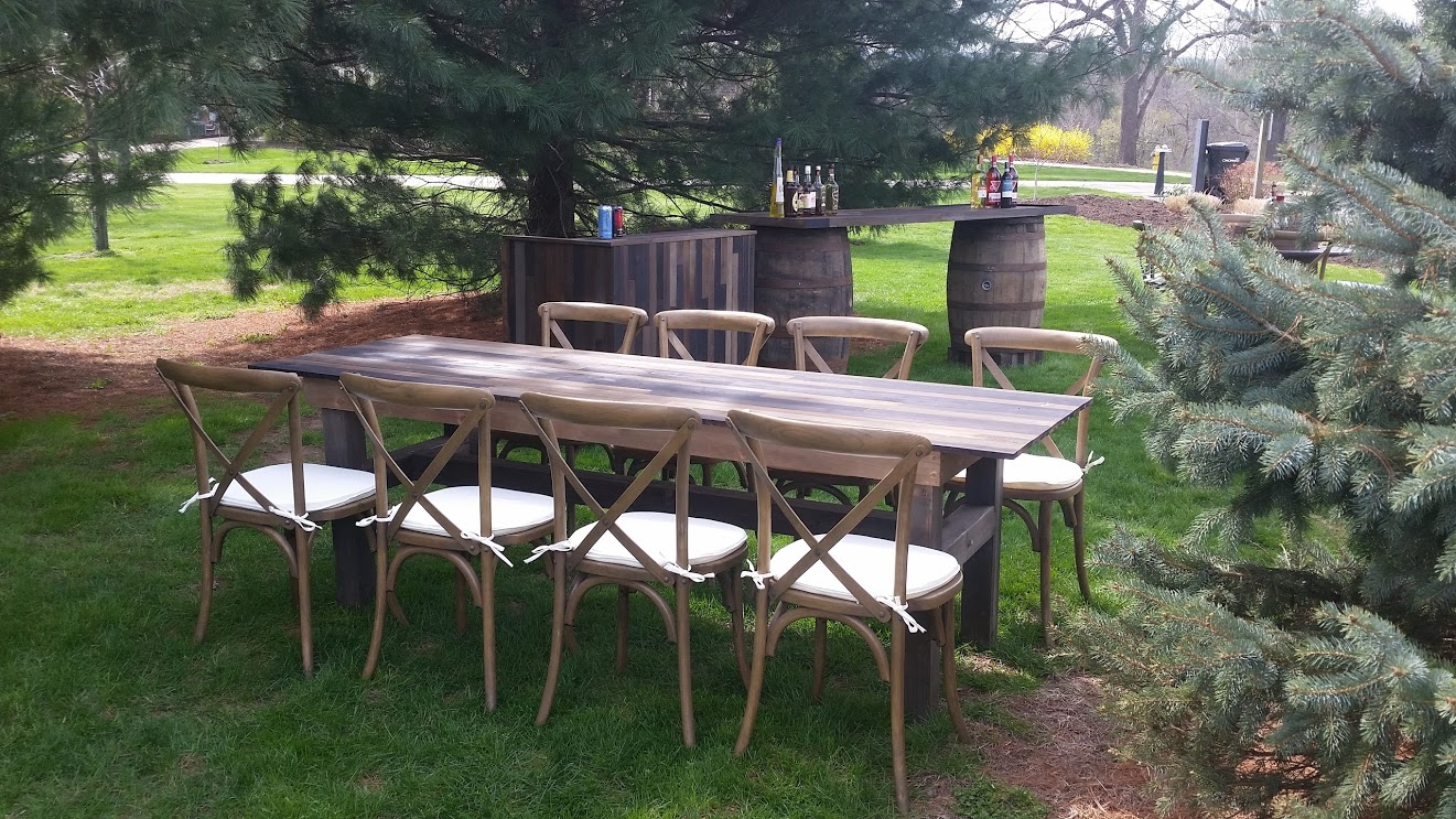 Vineyard Table and Chair Wedding