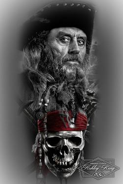 Black beared design