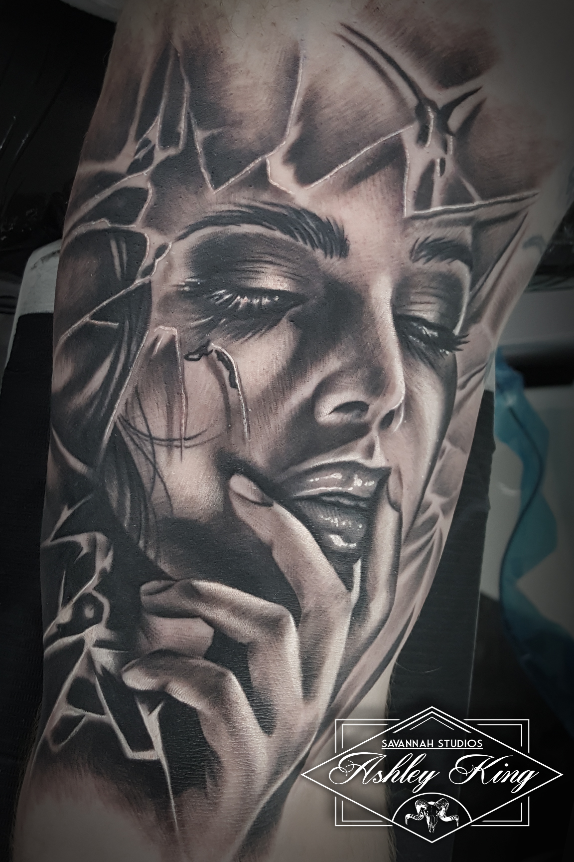 Woman inside bicep