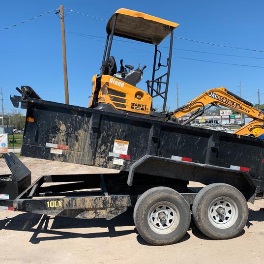 Dump Trailer, 4000# Excavator,