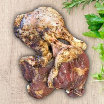 Soy, Garlic and Ginger glazed Duck legs