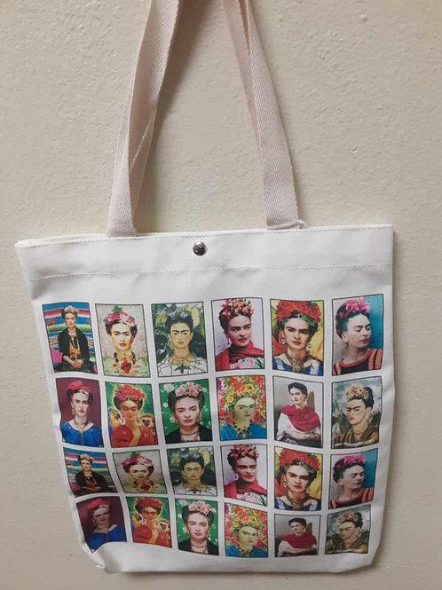 Frida White Tote Bag