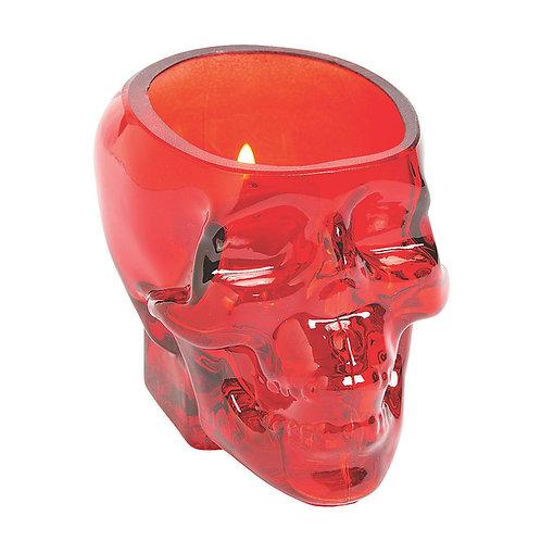 Red Skull Votive Holder Set