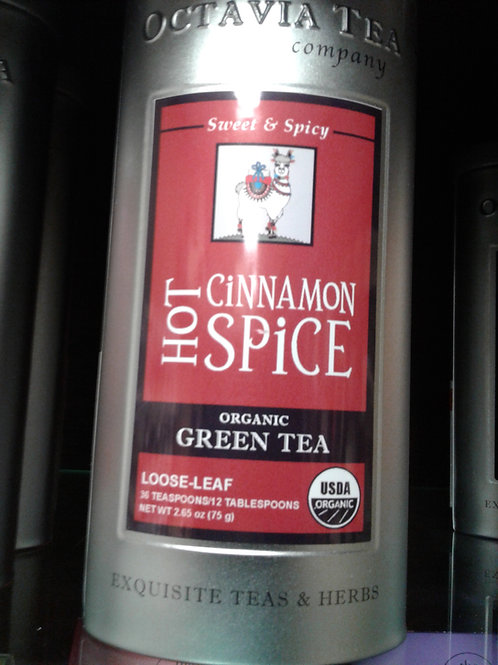 Hot Cinnamon Spice Organic Green Tea