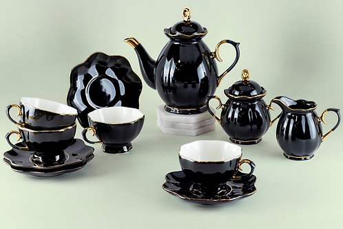 Black/Gold Tea Set