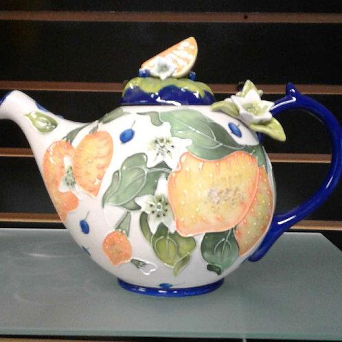 Blue Sky Lemon Tea Pot