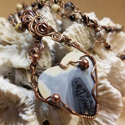 Maligano Dendritic Jasper Heart Pendant