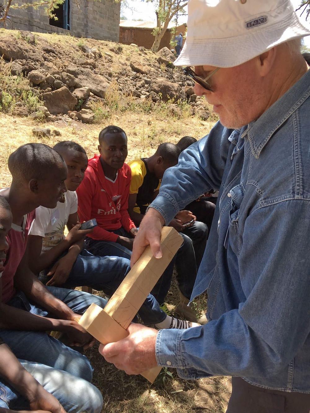 Bill teaches carpentry