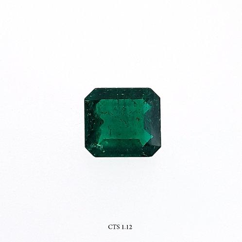 SMERALDO OTTAGONALE CT:1,12 MM 7X6