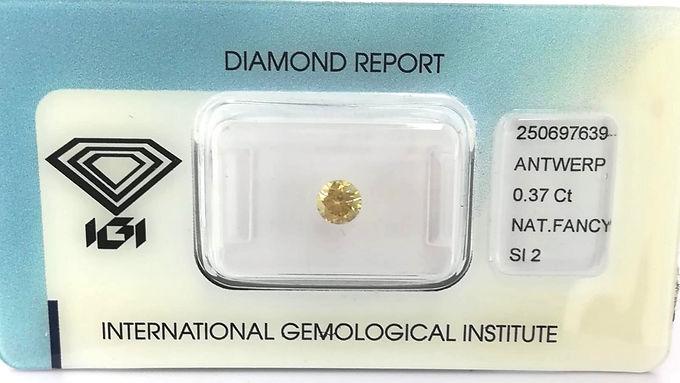 DIAMANTE FANCY YELLOW ROUND IGI CT:0.37