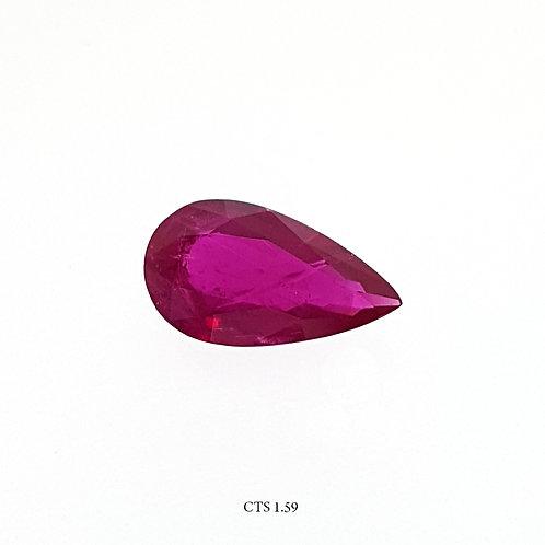 RUBINO GOCCIA CT:1,58 MM: 10X6