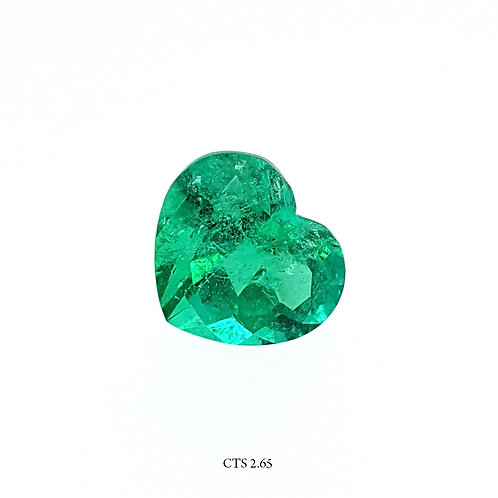 SMERALDO CUORE CT:2,65 MM:9X8