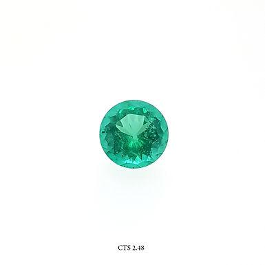 SMERALDO TONDO CT:2,48 MM:9X9