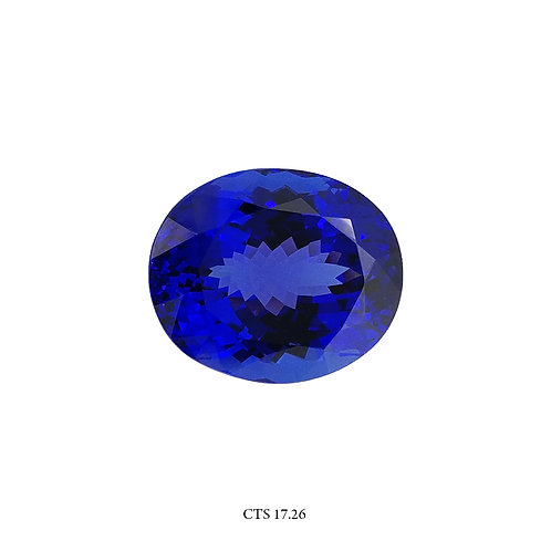 TANZANITE OVALE IGI CT:17,26 MM:17X12