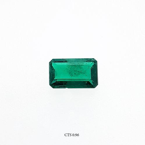 SMERALDO OTTAGONALE CT:0,96 MM 8X5