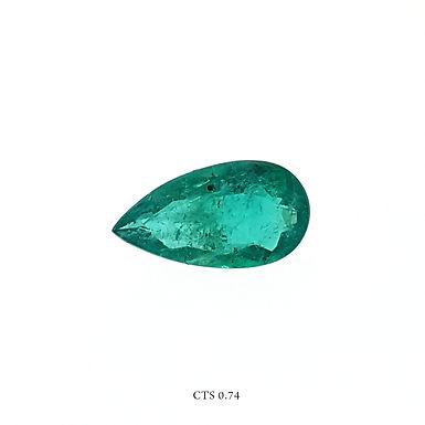 SMERALDO GOCCIA CT:0,74 MM 9X7