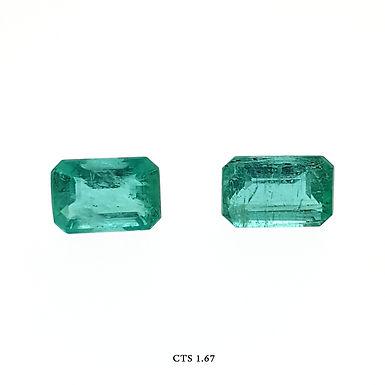 SMERALDO OTTAGONALE CP CT:1,67 MM:7X5