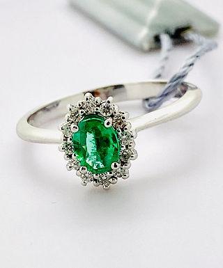 ANELLO smeraldo 6x4