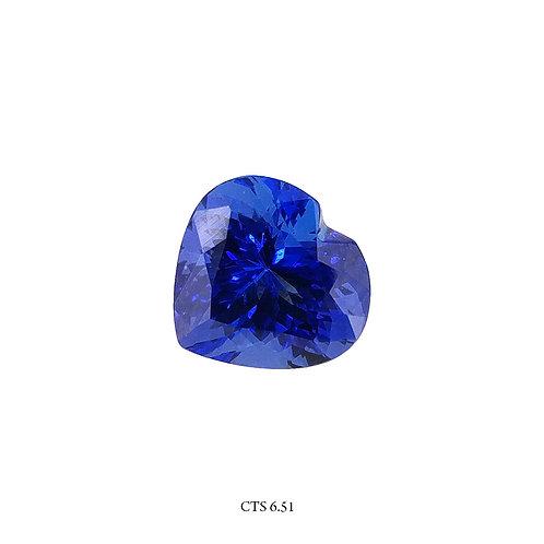 TANZANITE CUORE CT:6,51 MM:12X12