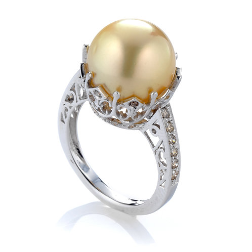 ANELLO PERLA GOLD E DIAMANTI
