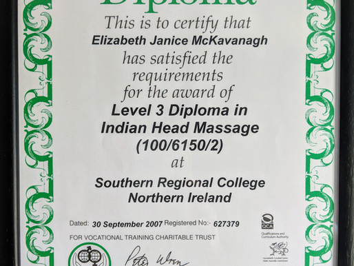 Indian Head Massage Special Offer - 1 Free 45 min Session with every 6 week course.