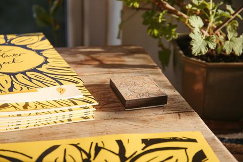 Sunflower Book Stack