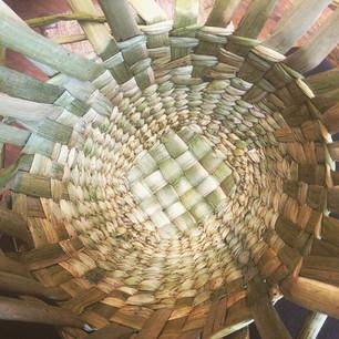 Rush basket making