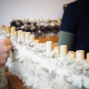 Pegloom weaving