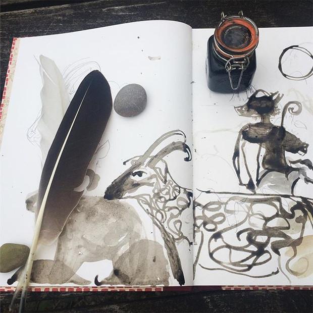 Oak ink drawing