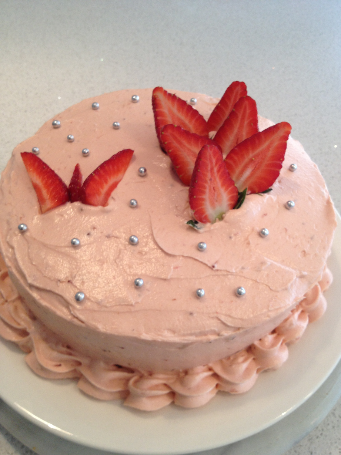 Strawberry Butterfly Cake